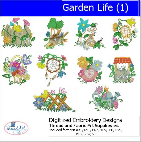 Machine Embroidery Designs - Garden Life(1) - Threadart.com