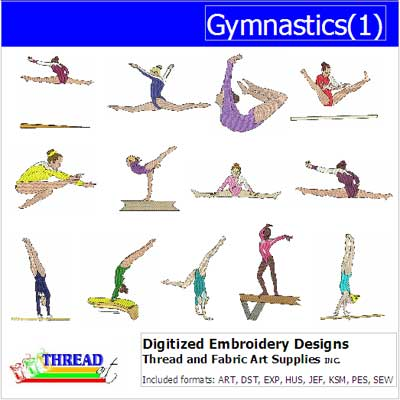Machine Embroidery Designs - Gymnastics(1) - Threadart.com