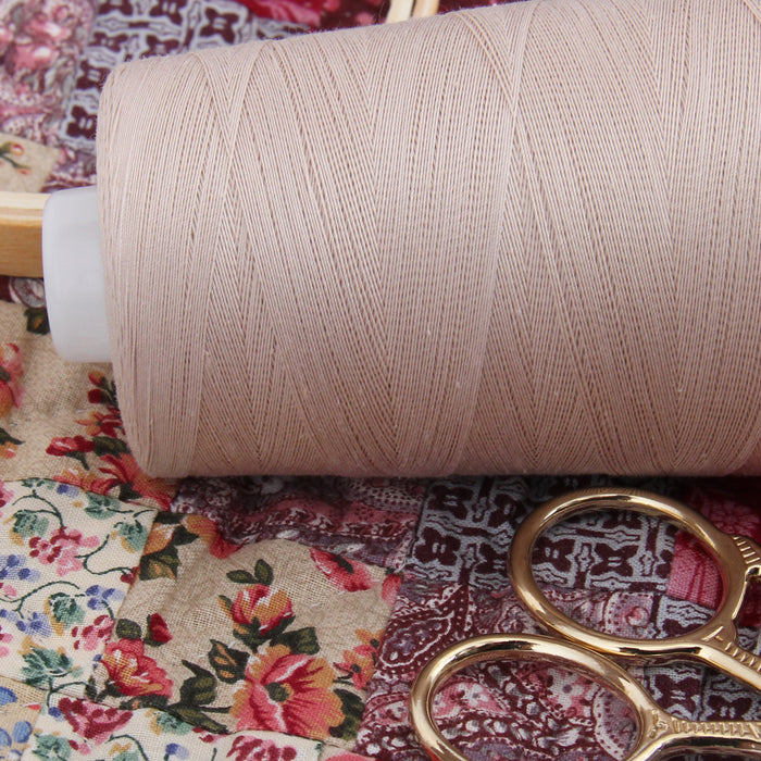 Heavy Duty Cotton Quilting Thread - Beige - 2500 Meters - 40 Wt. - Threadart.com
