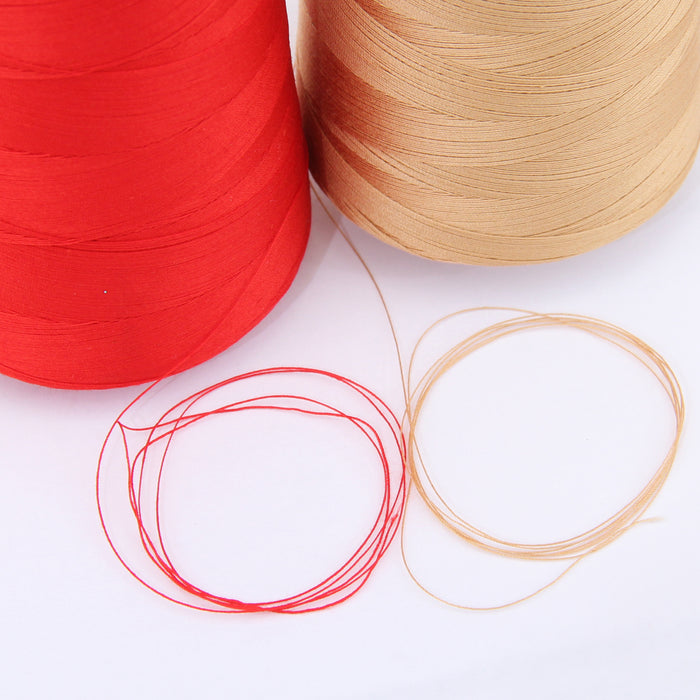 Heavy Duty Cotton Quilting Thread - Red - 2500 Meters - 40 Wt. - Threadart.com
