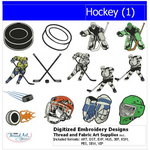 Machine Embroidery Designs - Hockey(1) - Threadart.com