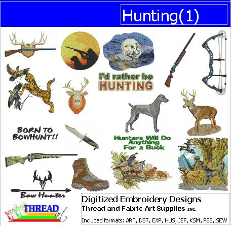 Machine Embroidery Designs - Hunting(1) - Threadart.com