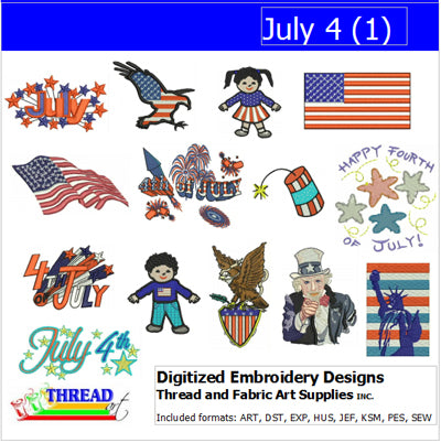 Machine Embroidery Designs - July 4(1) - Threadart.com