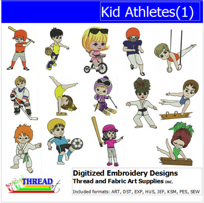 Machine Embroidery Designs - Kid Athletes(1) - Threadart.com