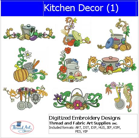 Machine Embroidery Designs - Kitchen Decor(1) - Threadart.com