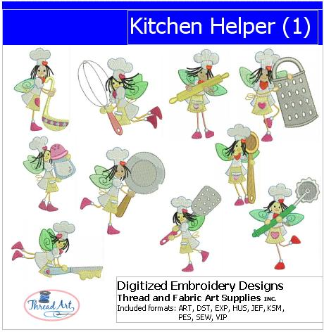 Machine Embroidery Designs - Kitchen Helper(1) - Threadart.com