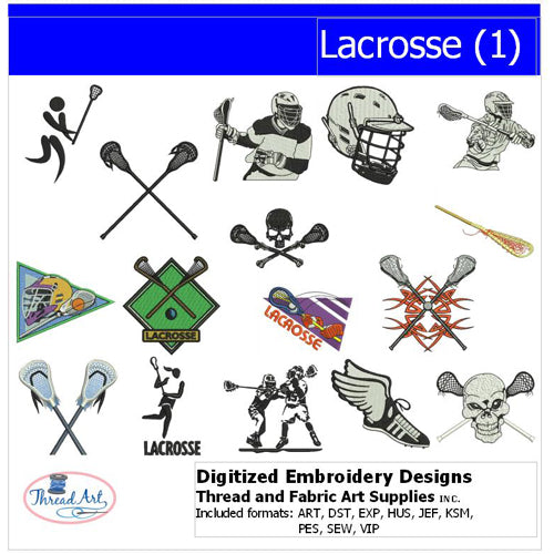 Machine Embroidery Designs - Lacrosse(1) - Threadart.com