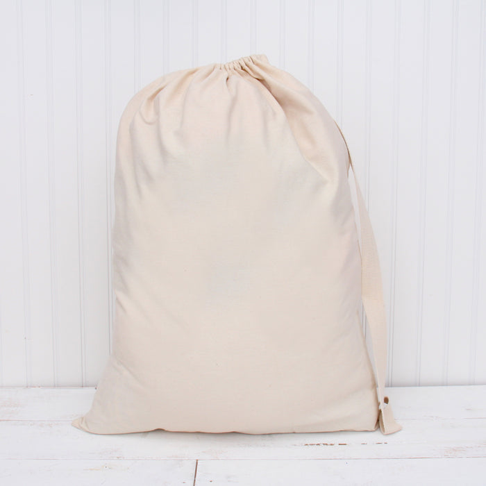 "Laundry Bag Duffle Bag Large Spacious 22""X28"" Drawstring 100% Sturdy Cotton Canvas with Strap - Threadart.com"