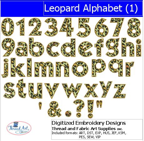Machine Embroidery Designs-  Leopard Alphabet(1) - Threadart.com