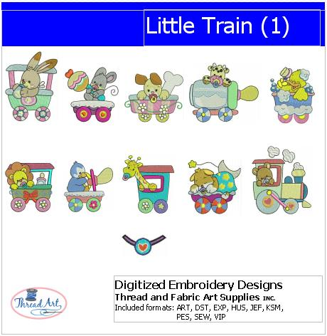 Machine Embroidery Designs - Little Trains(1) - Threadart.com