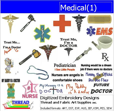 Machine Embroidery Designs - Medical(1) - Threadart.com