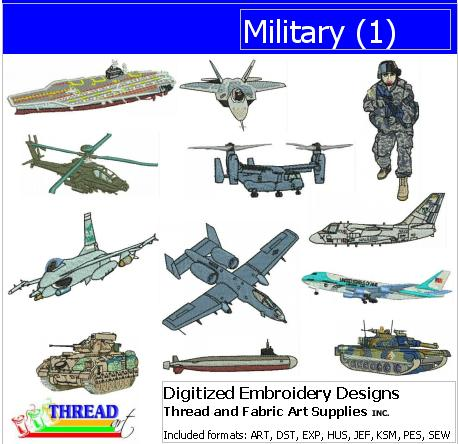 Machine Embroidery Designs - Military(1) - Threadart.com