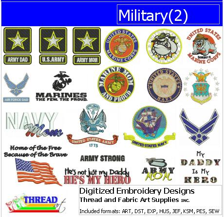 Machine Embroidery Designs - Military(2) - Threadart.com