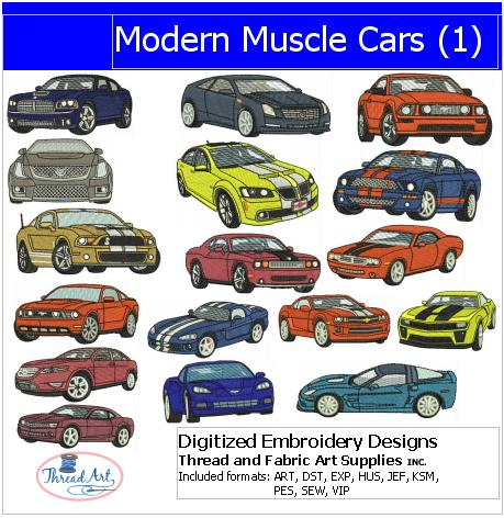 Machine Embroidery Designs - Modern Muscle Cars - Threadart.com