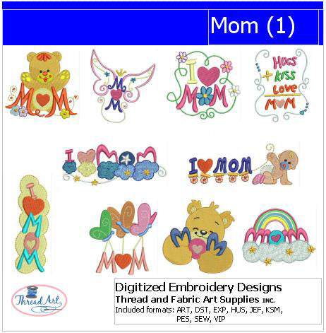 Machine Embroidery Designs - Mom(1) - Threadart.com
