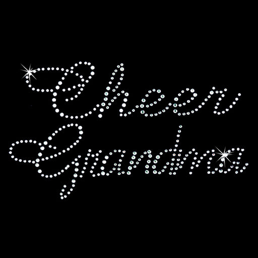 Hot Fix Rhinestone Heat Transfer Motif Cheer Grandma Large - Threadart.com