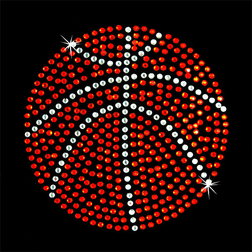 Hot Fix Rhinestone Heat Transfer Motif Basketball Large - Threadart.com