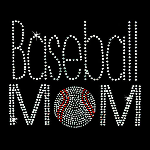 Hot Fix Rhinestone Heat Transfer Motif Baseball Mom 2 - Threadart.com