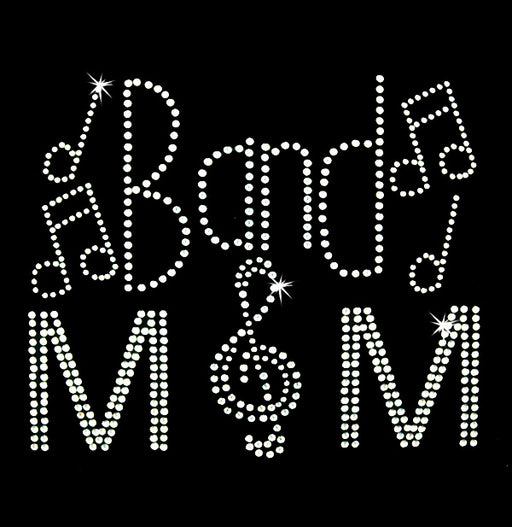 Hot Fix Heat Transfer Rhinestone Motif Band Mom - Threadart.com