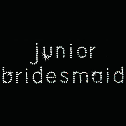 Hot Fix Heat Transfer Rhinestone Motif Junior Bridesmaid - Bebe - Threadart.com