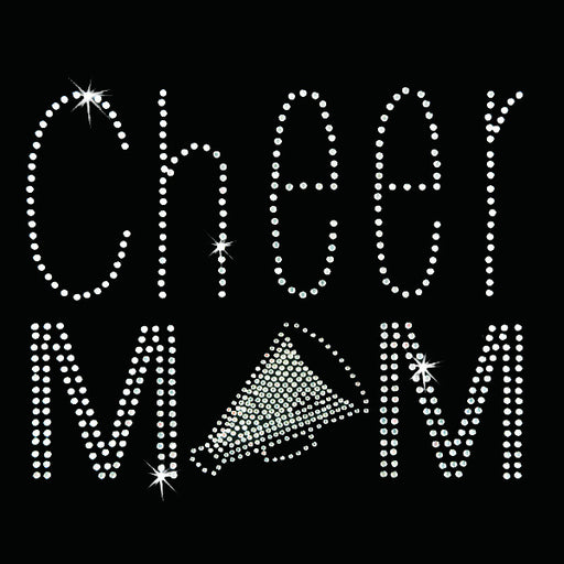 Hot Fix Heat Transfer Rhinestone Motif Cheer Mom - Threadart.com