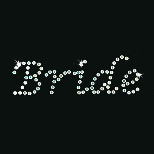 Hot Fix Heat Transfer Rhinestone Motif Bride - Lucinda - Threadart.com