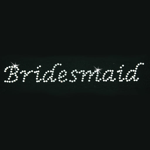 Hot Fix Heat Transfer Rhinestone Motif Bridesmaid - Lucinda - Threadart.com