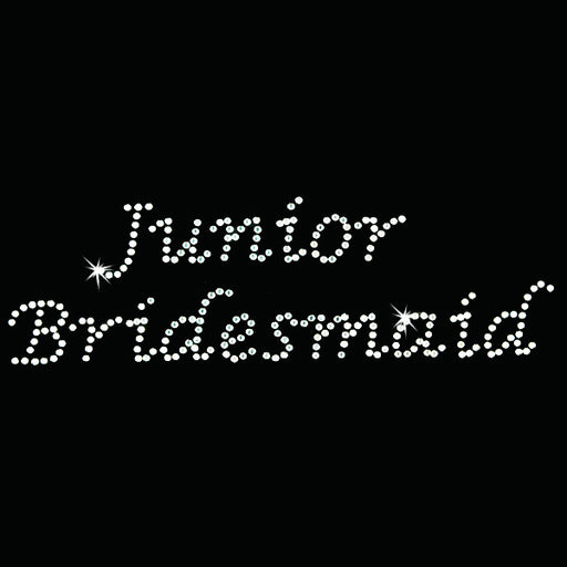 Hot Fix Heat Transfer Rhinestone Motif Junior Bridesmaid - Lucinda - Threadart.com
