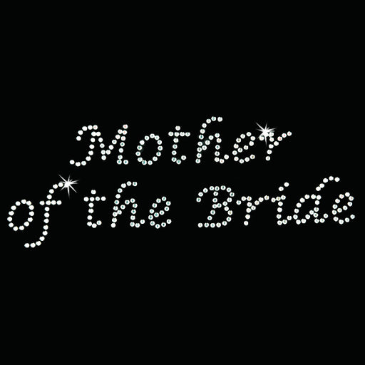 Hot Fix Heat Transfer Rhinestone Motif Mother of the Bride - Lucinda - Threadart.com