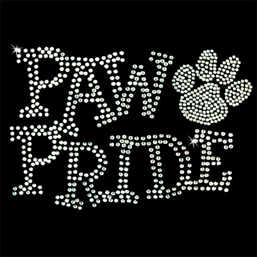 Hot Fix Heat Transfer Rhinestone Motif Paw Pride Crystal - Threadart.com