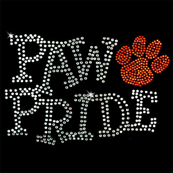 Hot Fix Heat Transfer Rhinestone Motif Paw Pride Hyacinth - Threadart.com