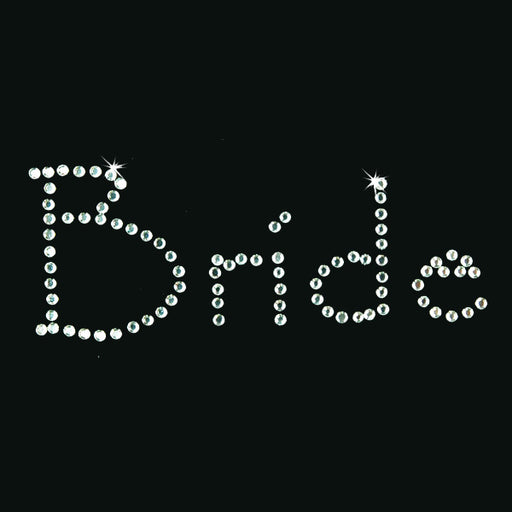 Hot Fix Heat Transfer Rhinestone Motif Bride - Papyrus - Threadart.com