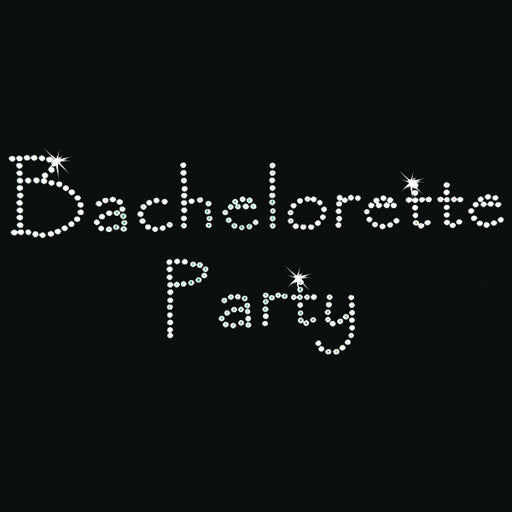 Hot Fix Heat Transfer Rhinestone Motif Bachelorette Party - Papyrus - Threadart.com