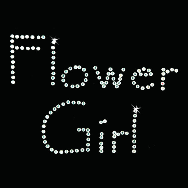 Hot Fix Heat Transfer Rhinestone Motif Flower Girl - Papyrus - Threadart.com