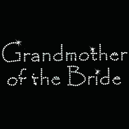 Hot Fix Heat Transfer Rhinestone Motif Grandmother of the Bride - Papyrus - Threadart.com