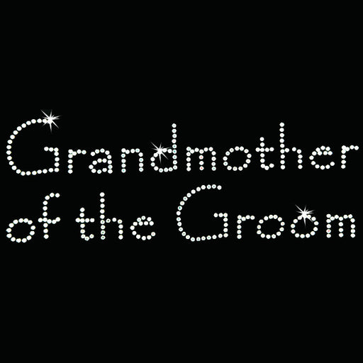 Hot Fix Heat Transfer Rhinestone Motif Grandmother of the Groom - Papyrus - Threadart.com