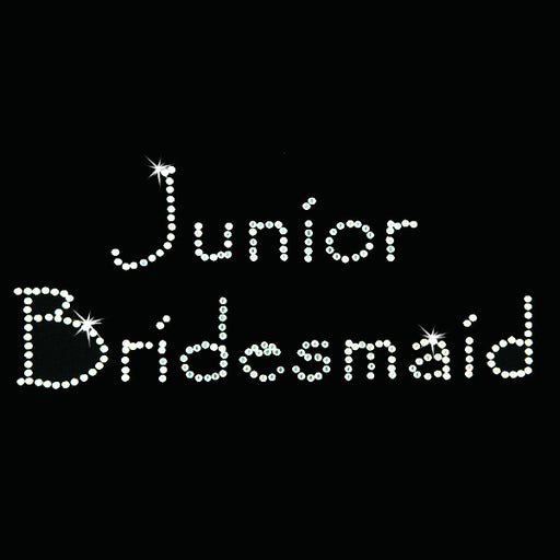 Hot Fix Heat Transfer Rhinestone Motif Junior Bridesmaid - Papyrus - Threadart.com