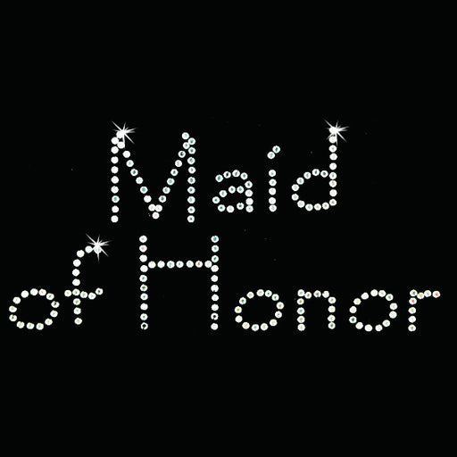 Hot Fix Heat Transfer Rhinestone Motif Maid of Honor - Papyrus - Threadart.com