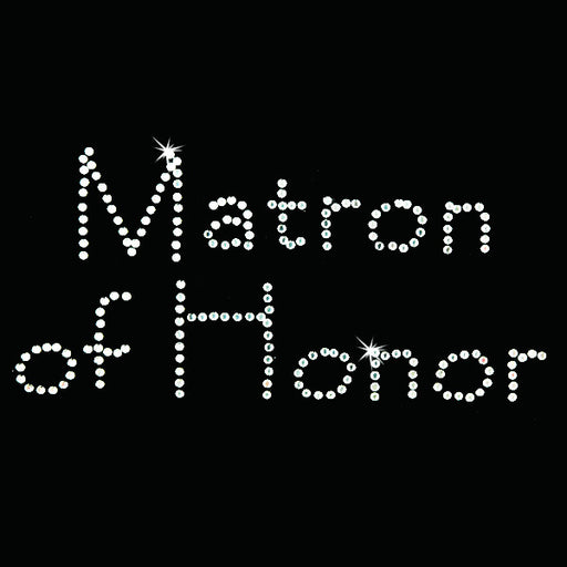 Hot Fix Heat Transfer Rhinestone Motif Matron of Honor - Papyrus - Threadart.com