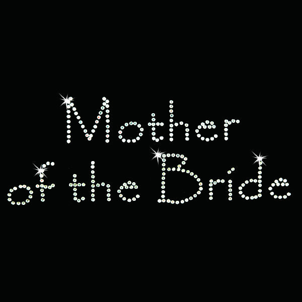 Hot Fix Heat Transfer Rhinestone  Motif Mother of the Bride - Papyrus - Threadart.com
