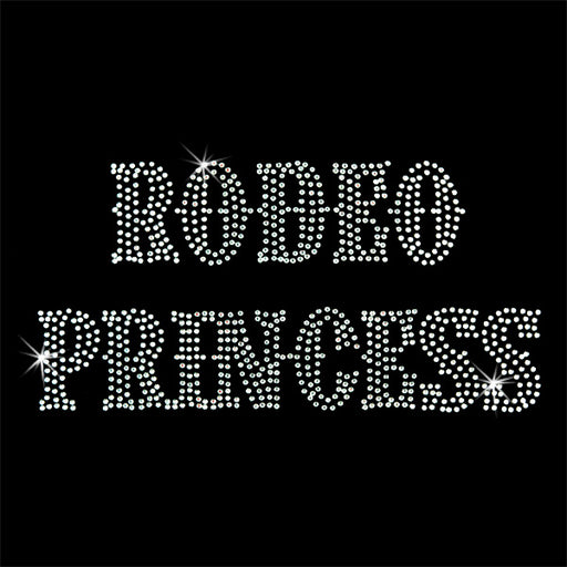 Hot Fix Motif Rodeo Princess - Threadart.com