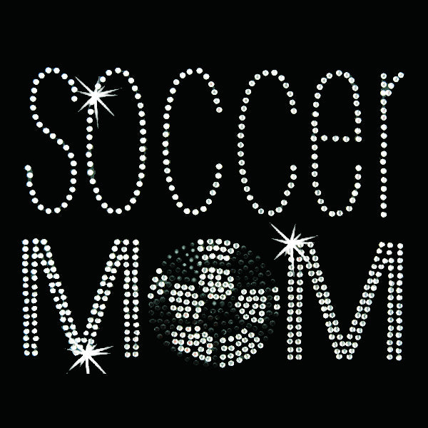 Hot Fix Heat Transfer Rhinestone Motif Soccer Mom - Threadart.com