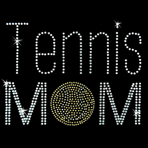 Hot Fix Heat Transfer Rhinestone Motif Tennis Mom - Threadart.com