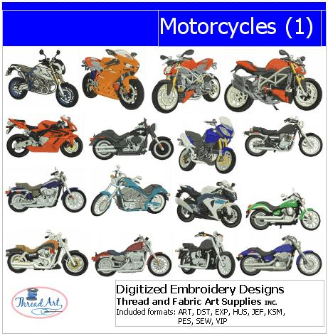 Machine Embroidery Designs - Motorcycles(1) - Threadart.com