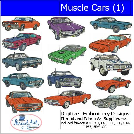 Machine Embroidery Designs - Muscle Cars(1)