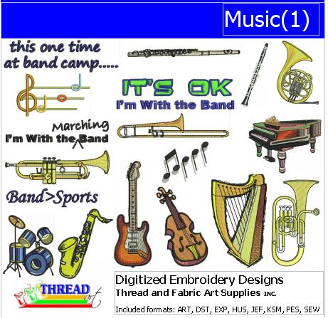 Machine Embroidery Designs - Music(1) - Threadart.com