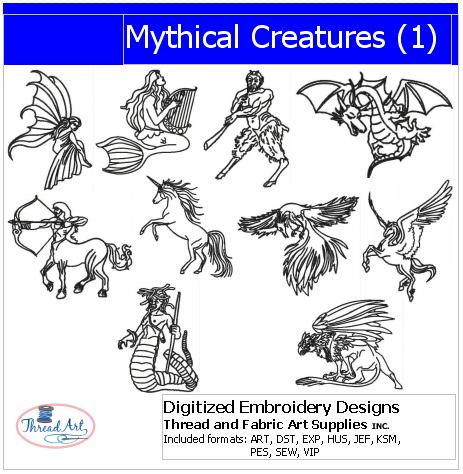 Machine Embroidery Designs - Mythical Creatures - Threadart.com