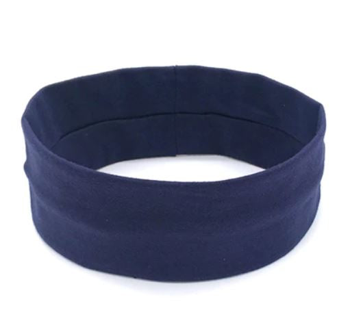 Sports Head Band - Navy - Threadart.com