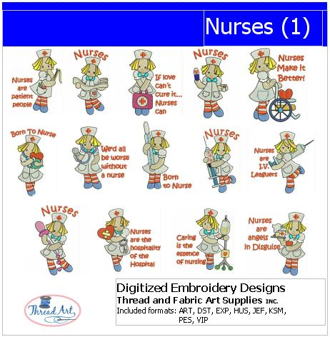 Machine Embroidery Designs - Nurses(1) - Threadart.com