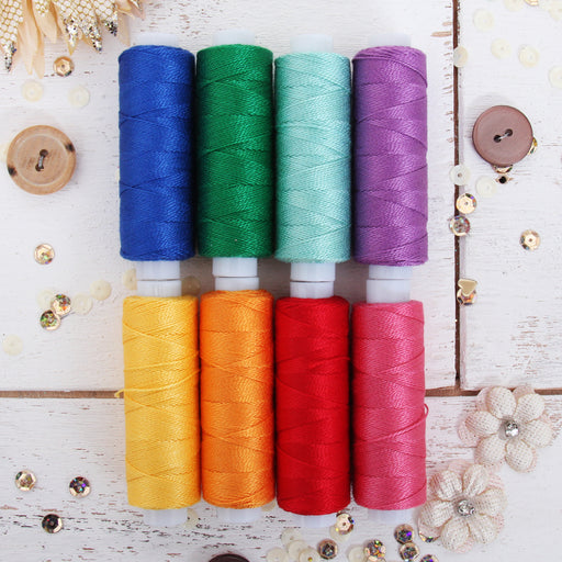 Pearl Cotton Thread Set Confetti Colors - Threadart.com